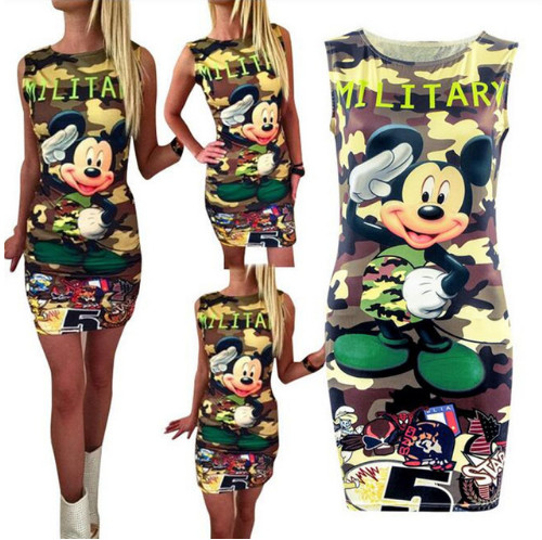 Mickey Military ujjatlan tunika