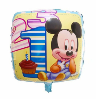 Mickey Happy Birthday  fólia lufi